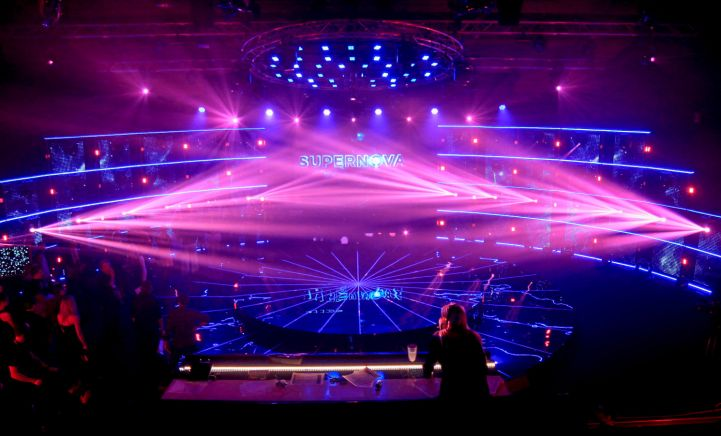 Bina na kojoj će nastupati takmičari. Foto: LTV