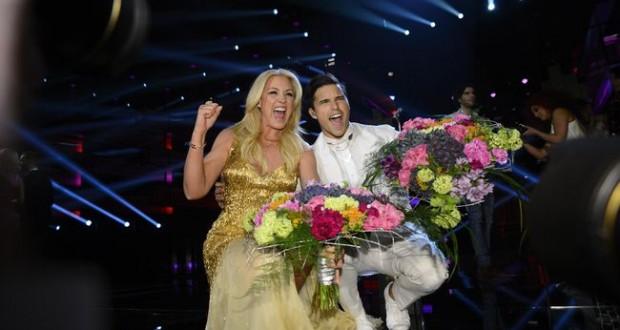 Jessica Andersson i Eric Saade (Foto: SVT)