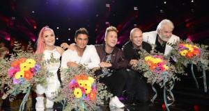 Finalisti: Dinah Nah, Samir & Viktor, Linus Svenning i Hasse Andersson (Foto: SVT)