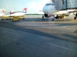 Avion AirSerbia za Beč
