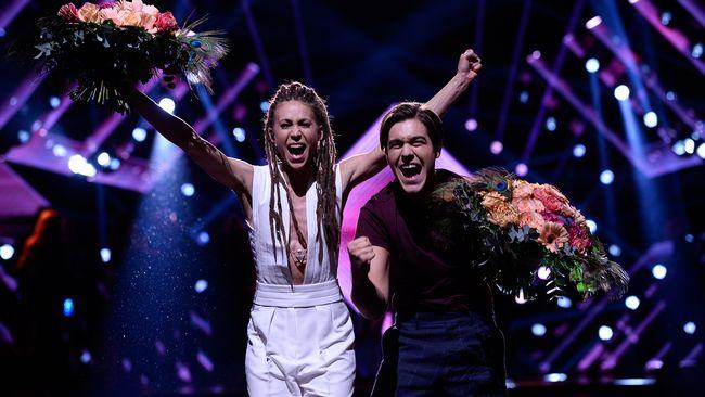 Mariette i Benjamin Ingrosso. Foto: SVT (Stina Stjernkvist)